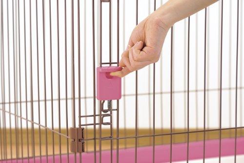 リッチェルペット用お掃除簡単サークル90cmx60cmピンク