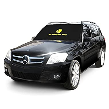 All Weather Plus Magnetic Windshield Cover For Sun Shade - Snow And Ice - Sun Reflector - Frost Guard Protector - Fits Most Vehicles ( 84  x 49 ) - For All Seasons And All Weather