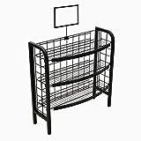 Mobile Merchandisers 3-Shelf Radius Display in Matte Black; Overall Dimensions 32'W x 42'H x 12 3/4'D (F3232-MB)