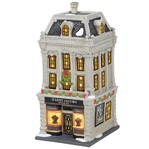 Department 56 'Christmas' in the City Harry Jacobs Jewelers Lit House, 9.06-inch High