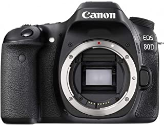 Canon EOS 80D Body Only - 24.2 MP, DSLR Camera, Black