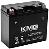 KMG Battery for Yamaha 650 XVS650 V-Star All 1998-2011 YT12B-BS Sealed Maintenance Free Battery High Performance 12V SMF OEM Replacement Powersport Motorcycle ATV Scooter Snowmobile
