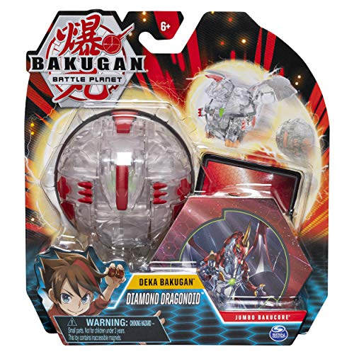 Bakugan Deka, Diamond Dragonoid, Jumbo Collectible Transforming Figure, for Ages 6 & Up