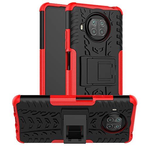 betterfon | Xiaomi Mi 10T Lite Hülle Outdoor Handy Tasche Hybrid Hülle Schutzhülle Panzer TPU Silikon Hard Cover Bumper für Xiaomi Mi 10T Lite Rot