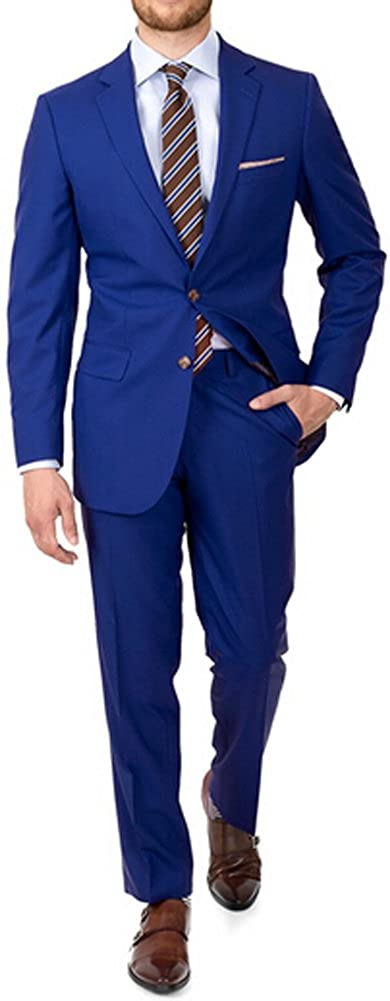 Botong Royal Blue Men Suits 2 Buttons Groom Tuxedos 2 Pieces Wedding Suits