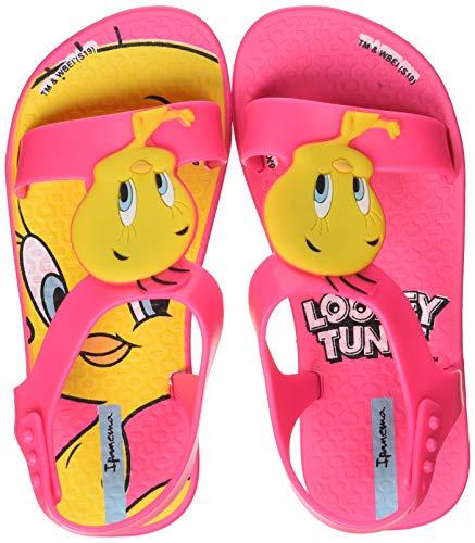 Ipanema Baby Mädchen Looney Tunes Flache Sandale, Rosa, 21 EU