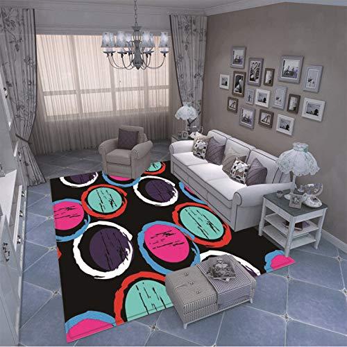 MMHJS Alfombra Gruesa Y Antideslizante con Estampado Geométrico Adecuado para Alfombrillas para Dormitorios, Balcones Y Cocinas Alfombra Duradera Y Lavable