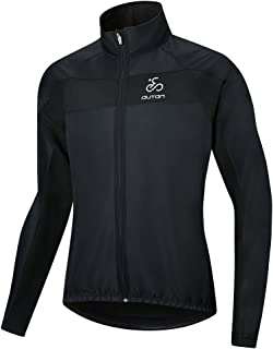 OUTON Men's Cycling Jacket Windproof Water-Resistant Coat Breathable Outdoor Sportswear Lightweight Reflective Warm Thermal MTB Mountain Bike Jacket