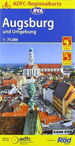 ADFC-Regionalkarte Augsburg und Umgebung mit Tagestouren-Vorschlägen, 1:75.000, reiß- und wetterfest, GPS-Tracks Download (ADFC-Regionalkarte 1:75000)