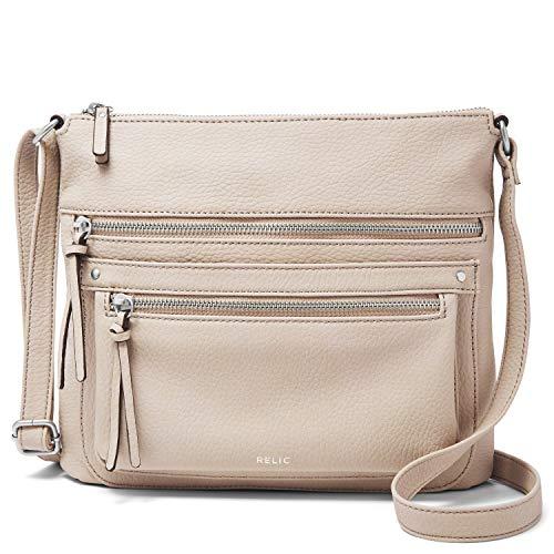 Relic by Fossil Women's Riley NS Crossbody Handbag, Color: CEMENT Model: (RLH9807257)