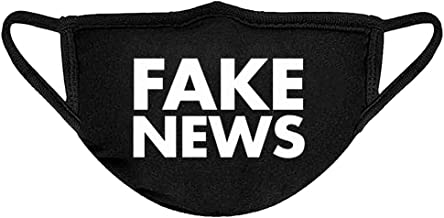 Mask Fake News Cotton Face Mask Black