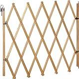 IB-Style - Barrière de sécurité'Lin' pour animaux   60-108 cm   2 couleurs   à visser   Fermeture accordéon   Barrière de protection pour chien Barrière extensible bois - NATUREL
