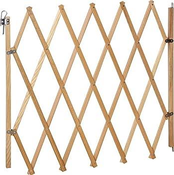 IB-Style® Lin barrière de sécurité pour Animaux | Bois | Nature | 60-108 cm