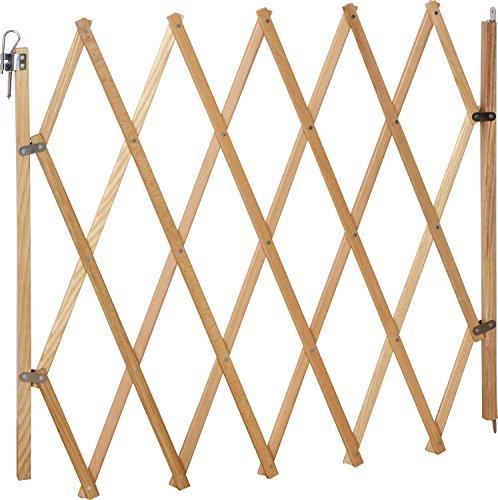 IB-Style® LIN Absperrgitter für Hunde | Ziehharmonika |Holz | Natur | 60-108 cm