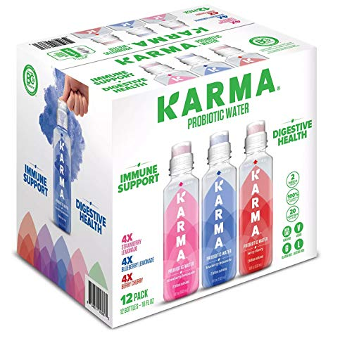 Karma Probiotic Water Variety Pack 18 Oz Bottle (Pack of 12)