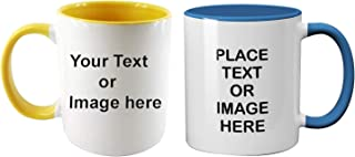 Vista 11oz Personalized Inner and Handle Color Mugs - Design your own Mug with photos and text