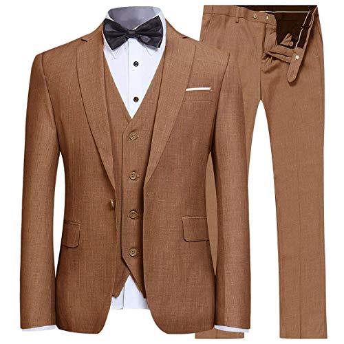 Toimothcn Men Single Breasted Pea Coat Formal Business Blazer Suit Long Jacket Outwear (Black,5XL)