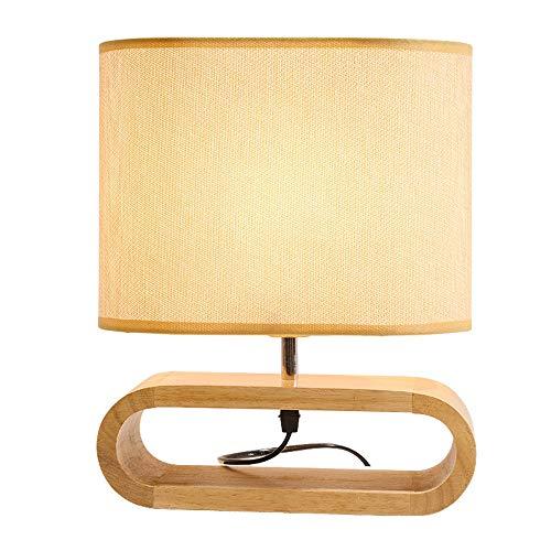 WRZ tafellamp van massief hout slaapkamerlamp van stof LED studie samen met het bed leeslamp voor kinderen