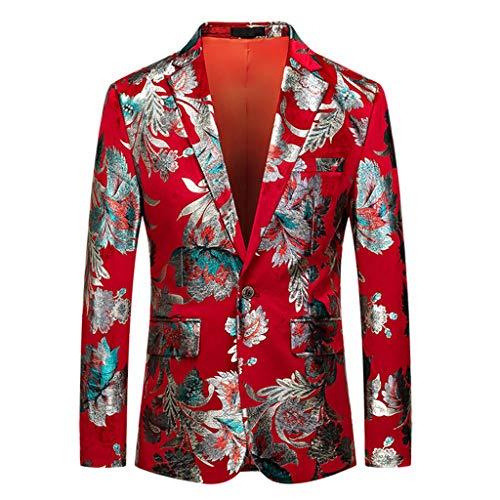 Vovotrade Sakko Sakko Pak voor heren, slim fit Sakko vintage kraag met glinsterende paisley-patroon, voor bruiloft, vakantie, vrije tijd, party, afstudeerbaar