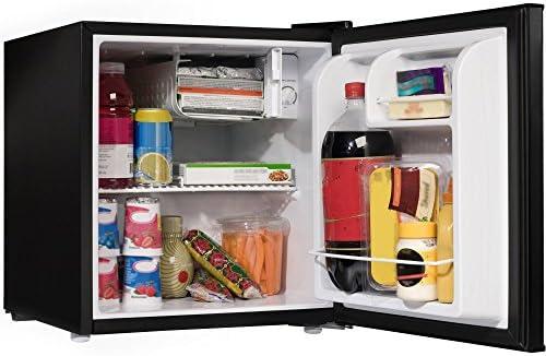 1 7 Cu Ft Black Compact Small Single Door Refrigerator Mini Fridge With Internal Freezer Cooler product image