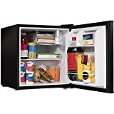 1.7 Cu. Ft. Black Compact Small Single Door Refrigerator Mini Fridge With Internal Freezer Cooler...