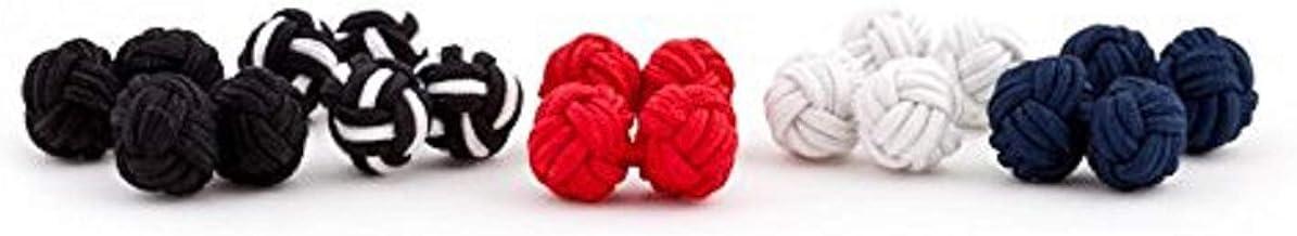 SILK KNOT CUFFLINKS BNWT Pick A Colour New Gift Wedding Valentines Prom Formal