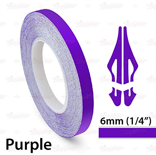 AutoXpress   1/4' 6mm Purple Roll Pinstriping Styling Trim Coachline Pin Stripe Self Adhesive Line Car Motorcycle Truck Bike Model Vinyl Tape Decal Stickers   32 ft 9.80m