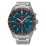 SEIKO Herren Chronograph Solar Uhr mit Edelstahl Armband SSC717P1