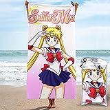 songyang Toalla de baño Anime Sail-Or Moon Toalla de playa de microfibra de...