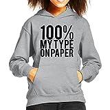 Photo de Cloud City 7 Love Island Quote 100 Percent My Type on Paper Black Kid's Hooded Sweatshirt par