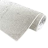 Self-adhesive Sparkling round rhinestone stickers sheet,for Arts & Crafts,DIY Event Decoration,Gift Decoration,Phone Decoration,car decoration,Embellishment Tablet 24x40cm(9.45x15.75inch)-Silver White