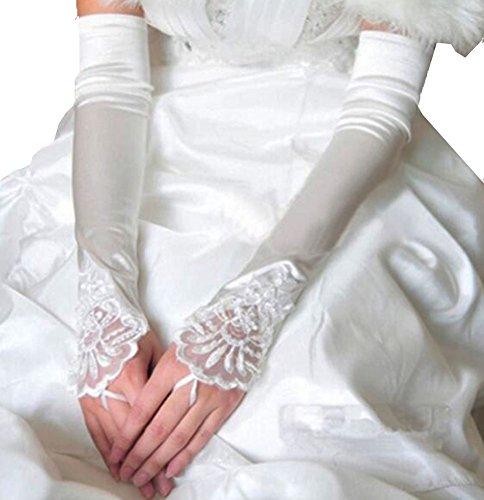 Élégantes Gants de mariage mariée cortège des gants de dentelle de robe-04