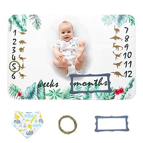 Couverture Mensuelle de Jalon pour Garçon Fille Doux Accessoires de Photographie Nouveau-Né pour Cadeaux de Douche Nouvelle Maman