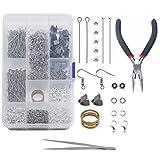 TOAOB 1050pcs L'ensemble de Fabrication de Bijoux Comprend des Outils de découverte et de réparation