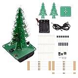 3D Weihnachtsbaum LED DIY Kits Elektronik Löt Bausatz Bunte Blinklicht Set, 7 Farbe