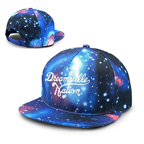 Rogerds Unisexo Gorra de béisbol,Sombreros de Verano Cielo Estrellado Hat Custom Dreamville Records Logo Baseball Hat Adjustable Sun Cap Hip Pop Hat