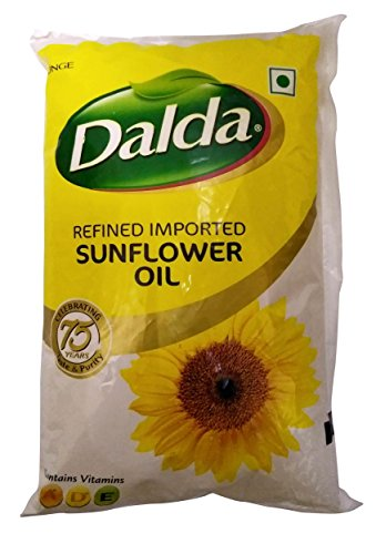 Dalda Cooking Oil - Refined Sunflower, 1L Pouch