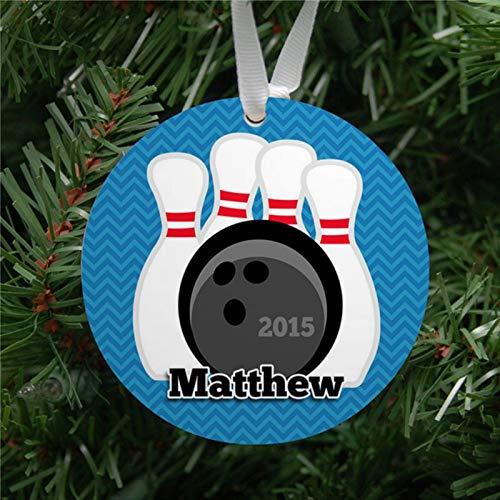 BYRON HOYLE Personalized Bowling Ball & Pins Ornament Keepsake Custom 2020 Christmas Ornaments Pandemic Xmas Decor Wedding Ornament