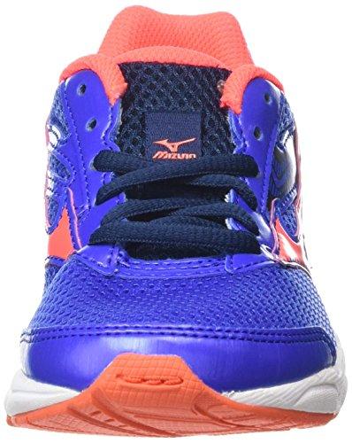 Mizuno Girls Wave Inspire 12 Jr Training Running Shoes, Blue (Dazzling Blue/Fiery Coral/Dress Blues), 2.5 UK