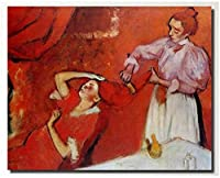 家の装飾キャンバスエドガードガ壁アート絵画髪の写真をとかすヴィンテージポスターカラフルなキャンバスプリントギャラリーアート写真40x60cmフレームなし