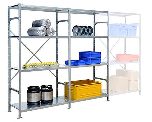 SMARTFACTS Regalsystem mit 8 Stahlböden für Werkstatt oder Lager, HxBxT 200 x 203 x 40 cm