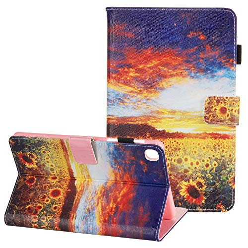 APOLL Cute Case for Samsung Galaxy Tab A 8.4 2020 (SM-T307/T307U), PU Leather Shockproof Folio Stand Case for Galaxy Tab A 2020 8.4-inch Model SM-T307 (Verizon/T-Mobile/Sprint/AT&T), Sunflower Garden