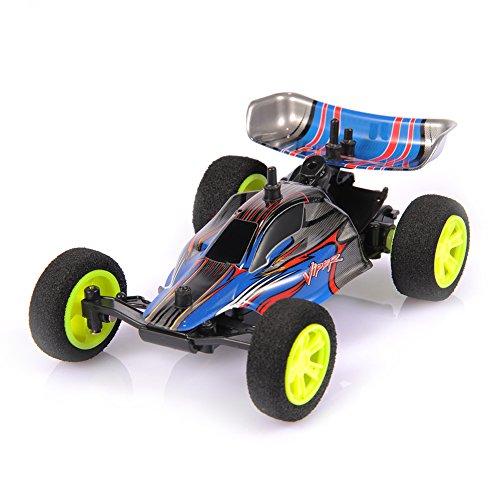 Ebilun RC Felsen Geländewagen 1/32 2.4G Mini RC laufendes Auto Ausgangs Träger-Radiosteuerung elektrisches Buggy Spielzeug USB nachladbares Batterie Blau