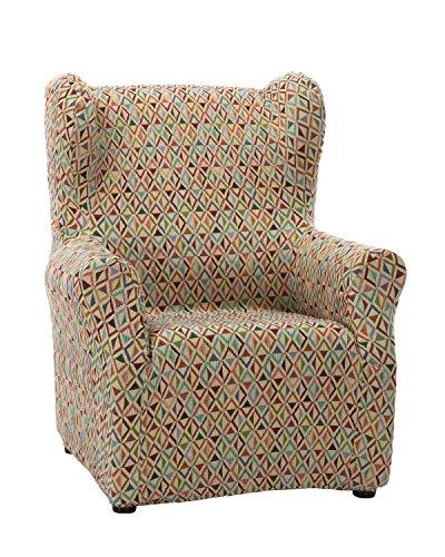 Martina Home Funda sillón Elástica Orejero Kilim - Tela - Multicolor - medida ancho de 70 a 90 cm