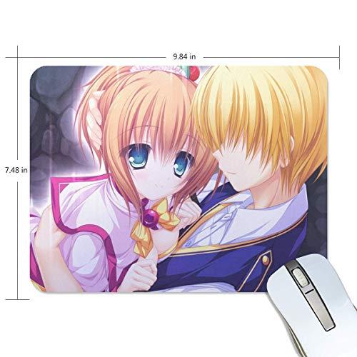 Maxm Mouse Pad Poemas para UNA Amiga Anime Couple Girl Boy Customized Rectangle Non-Slip Rubber Mousepad Gaming Mouse Pad Mat 9.8x7.5-inch
