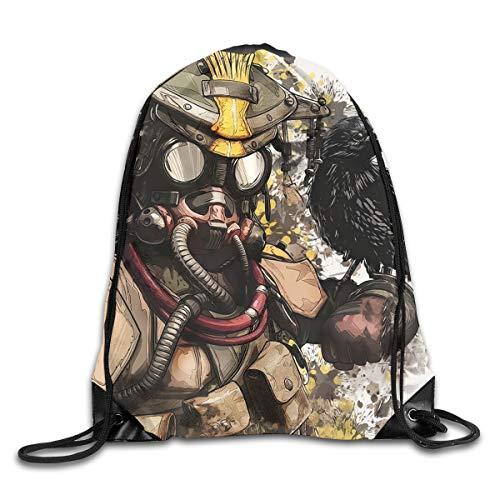 Pobilay Apex Legends Bloodhound 1 Drawstring Backpack Rucksack Shoulder Bags Training Gym Sack for Man and Women