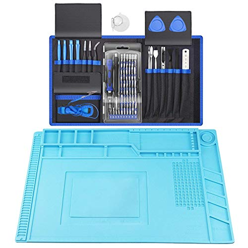 XOOL 80 in 1 Precision Screwdriver Set & Heat Insulation Silicone Repair Mat(17.79