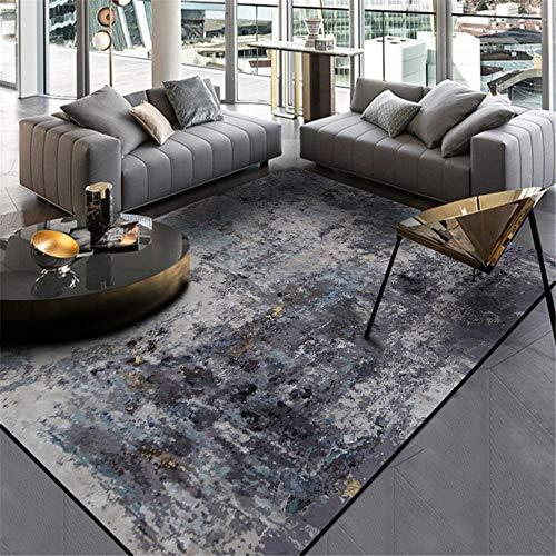 WQ-BBB Alfombra formaldehído SalaDeEstar Alfombra Gris alfombras Grandes Abstracto Duradero La Alfombrae 80X120cm