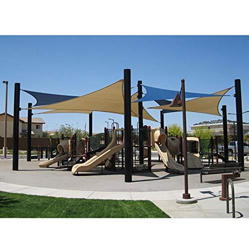Yanty Malla Sombra Protector Solar,Sombra Toldo,Tela Sombra Multifuncional,Triángulo3x4x5m (10 * 13 * 16 Pies),para Jardín Al Aire Libre,Balcones,Parque De Atracciones,Royal Blue