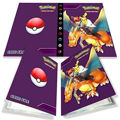 Yisscen Tarjetero Pokemon, Tarjetas coleccionables, álbum de Tarjetas, Carpeta de álbum Pokemon 30 páginas con Capacidad para 240 Tarjetas (Pokemon)